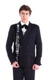 Man med saxofonen Royaltyfri Bild