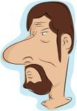 Man med skägget och moustachen Arkivfoto