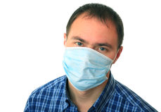 Man is in medical mask. Stock Image