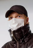 Man in medical mask stock photos