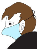 The Man in a medical mask Royalty Free Stock Photography
