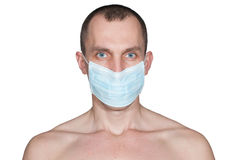 Man in a medical mask isolated Royalty Free Stock Photo