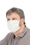 Man in medical mask Royalty Free Stock Images