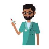 Man medical nurse Stock Photography
