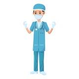 Man medical nurse Stock Image