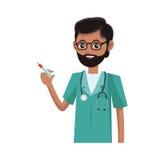 Man medical nurse Royalty Free Stock Images
