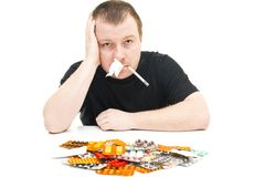 Man and medicines Stock Photo
