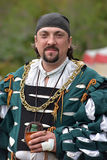 Man in medieval costume, historical festival Stock Photography