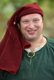 Man in medieval costume, historical festival Stock Images