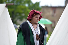 Man in medieval costume, historical festival Royalty Free Stock Photos