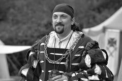 Man in medieval costume, historical festival Stock Image