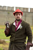 Man in medieval costume, historical festival Royalty Free Stock Photography