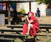 Man in Medieval Costume Renaissance Festival Stock Images