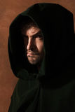 Man in a medieval hood Stock Photos