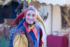Man in a medieval jester costume Royalty Free Stock Photography