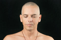 Man Meditates Royalty Free Stock Images