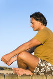 Man meditating. Royalty Free Stock Photography