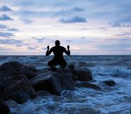 Man meditating Stock Photos