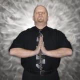Man meditating. Stock Photos