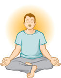 Man Meditating (Aura Background) Royalty Free Stock Photos