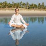 Man meditating Stock Photos
