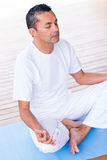Man meditating Royalty Free Stock Image