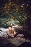 Man meditating Royalty Free Stock Images