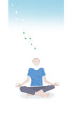 Man meditating illustration Royalty Free Stock Images