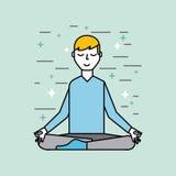 Man meditating poster image Stock Photography