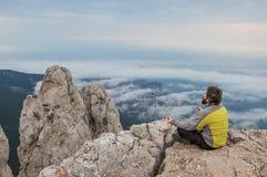 A man meditating Royalty Free Stock Photography
