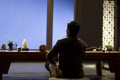 Man in meditation Royalty Free Stock Photos