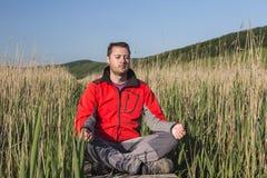 Man meditation Royalty Free Stock Photography