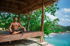 Man in meditation Royalty Free Stock Photography