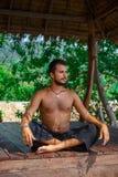 Man in meditation Stock Photography