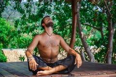 Man in meditation Royalty Free Stock Image