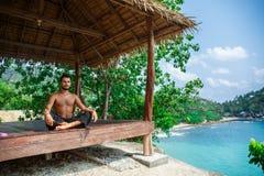 Man in meditation Stock Photos