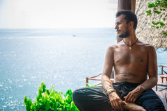 Man in meditation Royalty Free Stock Photo