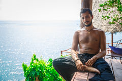 Man in meditation Royalty Free Stock Images