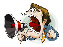 Man with Megaphone stock illustration