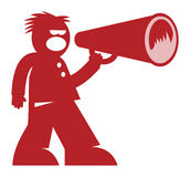 Man with Megaphone Stock Photography