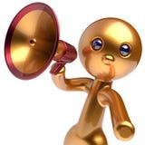 Man megaphone character promotion speaking stylized avatar Stock Photos
