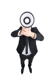 Man with megaphone. Royalty Free Stock Photo