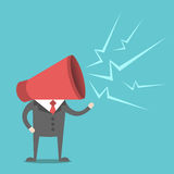 Man with megaphone head Royalty Free Stock Image