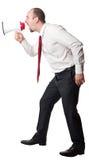 Man with megaphone Stock Photo