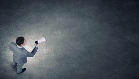 Man with megaphone Stock Image