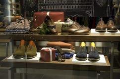 Man men fashion clothing shoe store Stock Image