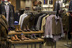 Man men fashion clothing shoe store Royalty Free Stock Photo