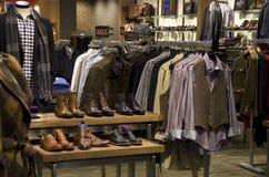 Man men fashion clothing shoe store Royalty Free Stock Photo