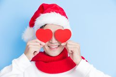 Man with merry christmas Royalty Free Stock Photography