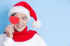 Man with merry christmas Stock Photography